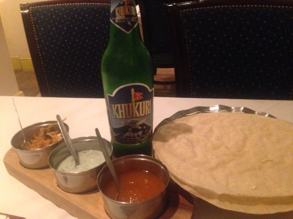 Nepalese Beer & Popadoms