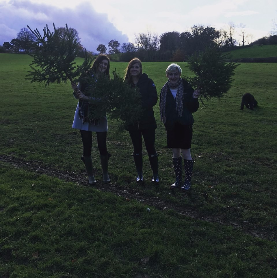 I had friends come to visit me, and we managed to cut down our own christmas trees!