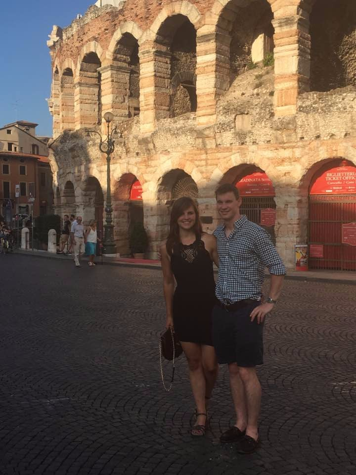 Tom and I in Verona :)
