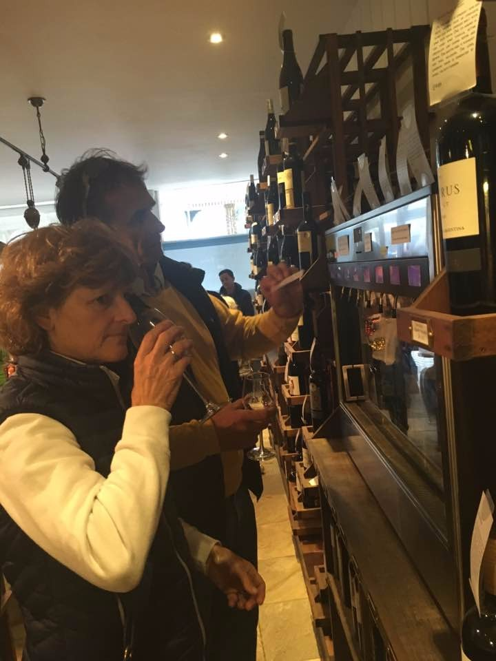 We spent a lot of our time in this amazing wine shop - Wine Therapy during the rainy periods! This one's with my parents - I knew they'd love it as much as I did!