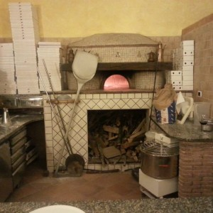 A typical wood fired oven