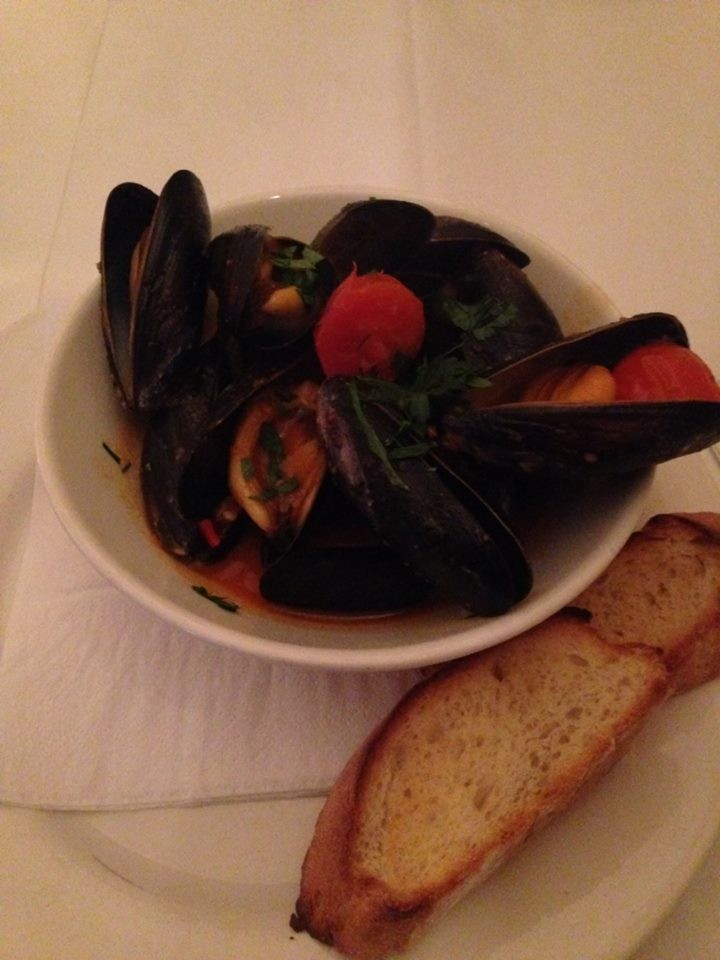 Mussels (sorry again about the photo!)
