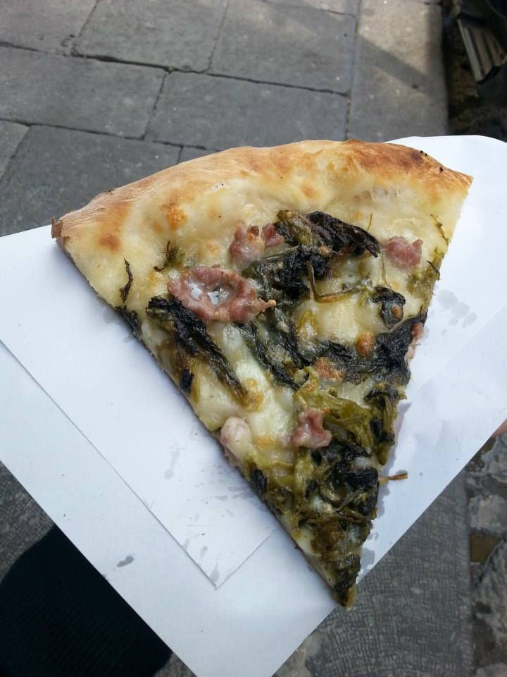 My first piece of Neapolitan pizza! For only 1.50!