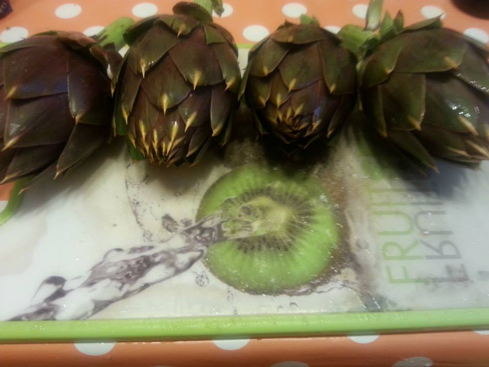 What artichokes look like!