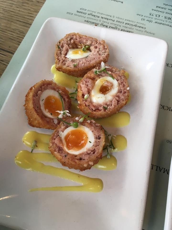 Ham Hock & Egg Scotch Eggs