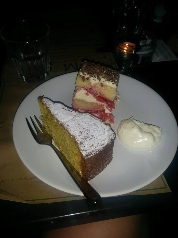 MYO's Dessert Plate: Strawberry Tiramisu & Orange and Olive Oil Cake