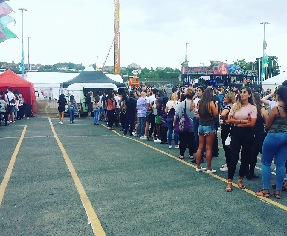 One of our busiest events - at London Pizza Festival. The queue just never stopped!