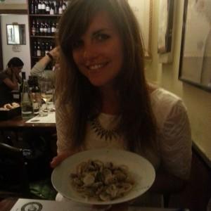 Me with spaghetti von vongole