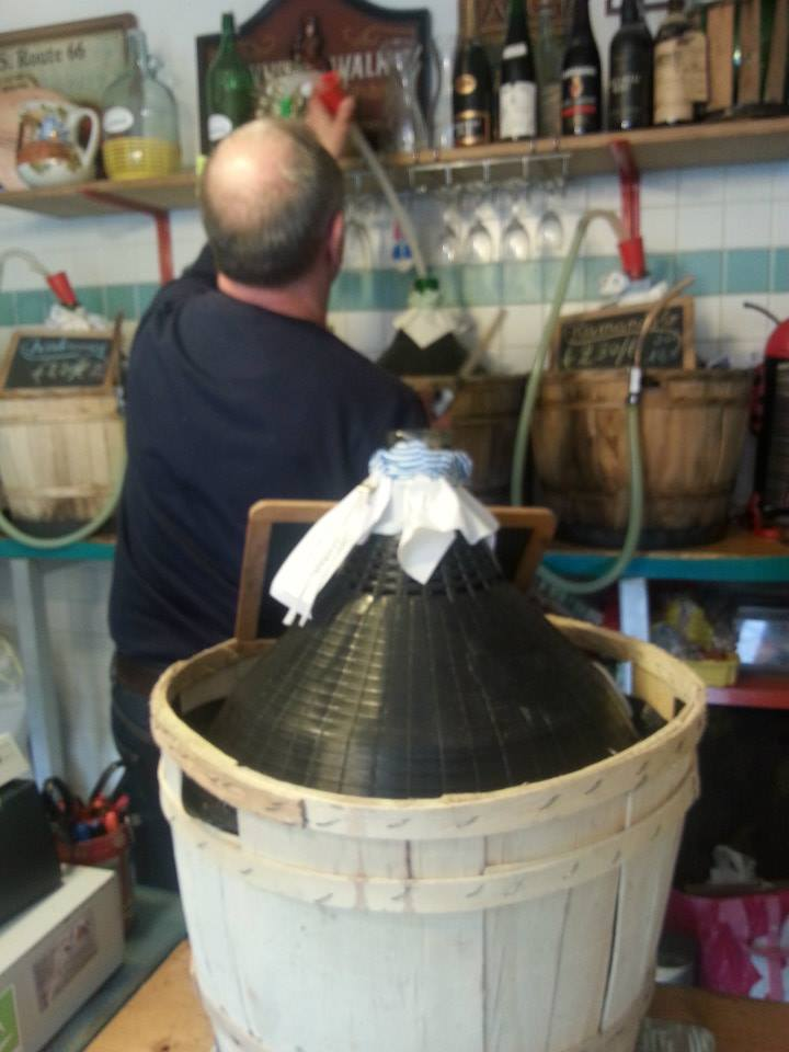 Wine from a barrel...